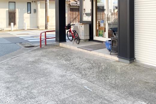 リフォームと薪ストーブのお店さんたんの駐車場